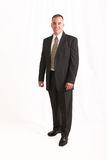 Businessman. Young businessman isolated over white stock photography