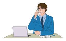 The businessman royalty free illustration