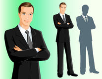Businessman. Illustration of a confidant businessman Stock Photos