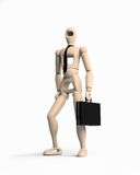 Businessman. Robot businessman over the white background (3d Royalty Free Stock Photography