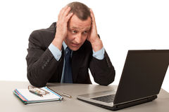Anxious manager Stock Photography