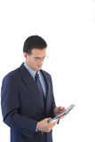 Businessman. Business executive reading a report Royalty Free Stock Photography