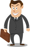 Businessman. Carrying suitcase in vector format Royalty Free Stock Image
