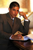 Businessman. Working hard Stock Image