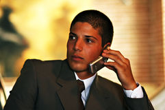 Businessman. Business call Stock Photos