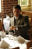 Businessman. Lunchtime Royalty Free Stock Photo