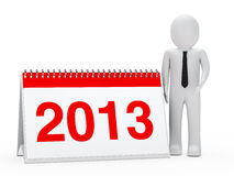 Businessman 2013 calendar Royalty Free Stock Image