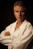 Businessman. Portrait shot over grey background Royalty Free Stock Images