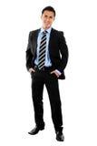Businessman. Stock image full shot of businessman isolated on white Royalty Free Stock Image