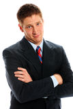 Businessman. Glaring at camera with arms crossed Royalty Free Stock Images