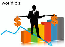 Businessman. Illustration of businessman.... world biz illustration vector illustration