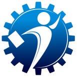 Businessman. Isolated illustrated bisinessman silhouette logo design Stock Image