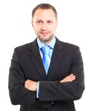 Businessman. Smiling middle aged businessman on white background Royalty Free Stock Photography