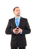Businessman. Standing, looking off into distance Stock Image