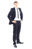 Businessman. Young business man full body isolated on white background Royalty Free Stock Photography