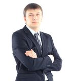 Businessman. Portrait of a young businessman isolated on white background Royalty Free Stock Photography