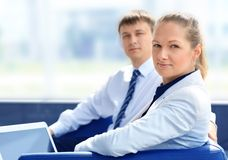 Businessman. Young business collegues working in the office Stock Photography