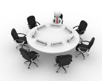 Businessman. 3d people - men, person to conference table. Meeting Stock Photography