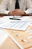 Businessman. A businessman in office, business concept Stock Images