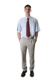 Businessman. Whole figure of a young businessman white isolated stock images