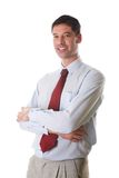 Businessman. Young, confident businessman white isolated royalty free stock photos