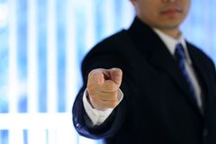 Businessman. Pointing Stock Photo