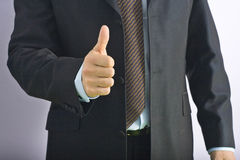 Businessman. A businessman hand ok on office Royalty Free Stock Photography