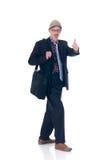 Businessman. Middle aged businessman formal dressed, studio shot Royalty Free Stock Photo