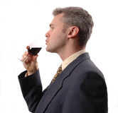 Businessman. Man wine Royalty Free Stock Image