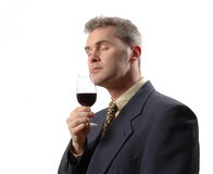 Businessman. Businness man wine Royalty Free Stock Photography