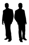 Businessman. 's Silhouette on white background Royalty Free Stock Photo