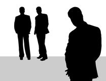Businessman. Team lead focused in front Stock Images