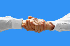 Businessman. Teamwork partners shaking hands Royalty Free Stock Photos