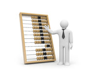 Businessman with abacus Royalty Free Stock Image