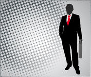 Businessman on the abstract background Stock Image