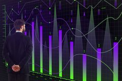 Broker trade and analysis concept Stock Images