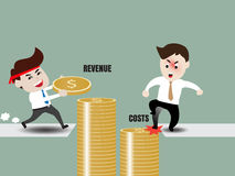 Businessman accelerate business growth Royalty Free Stock Images