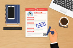 Businessman accepted CV stock illustration