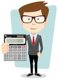 Businessman or Accountant with a Calculator, Stock Photos