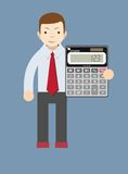 Businessman or Accountant with a Calculator Royalty Free Stock Photos