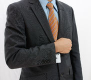 Businessman with ace card Stock Image
