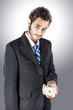 Businessman with an ace Stock Photo