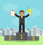 Businessman achieved success and recognition Royalty Free Stock Images