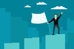 Businessman achieved success. Vector illustration. Stock Photos