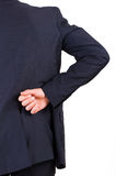 Businessman with aching back. Image of a businessman with aching back Royalty Free Stock Image