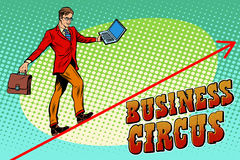 Businessman acrobat business circus Royalty Free Stock Images