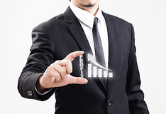 Businessman acting display Profit that is worth very much Royalty Free Stock Photo