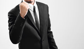 Businessman acting finish from his performance Royalty Free Stock Images