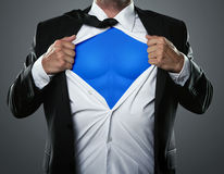Free Businessman Acting Like A Super Hero Royalty Free Stock Photo - 28123215
