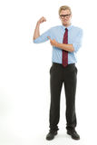 Businessman in action Stock Photography